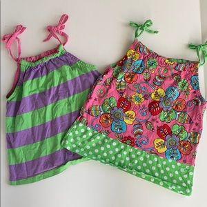 Hanna Anderson Summer Dresses tie straps 90cm 3t